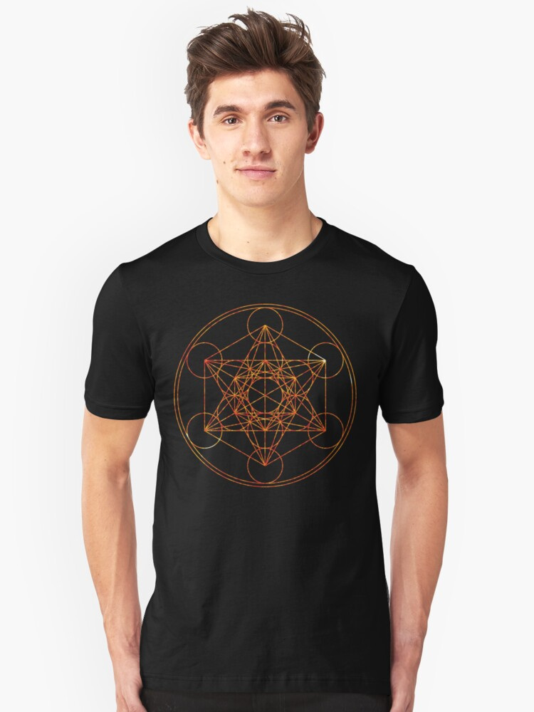 Metatron's Cube [The Red Moon] | Sacred Geometry Unisex T-Shirt Front