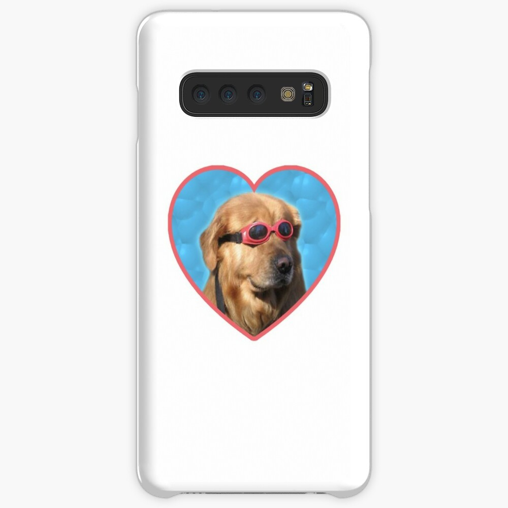 Doggo Stickers: Swimmer Dog Case & Skin for Samsung Galaxy