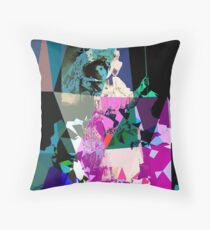 Girl & swing Throw Pillow