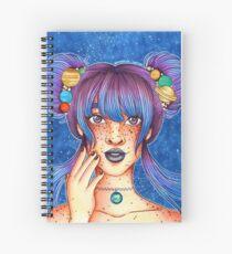 Galaxy Goddess Spiral Notebook