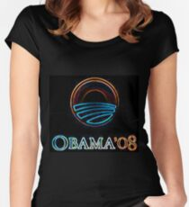 Obama 08 Women's Fitted Scoop T-Shirt