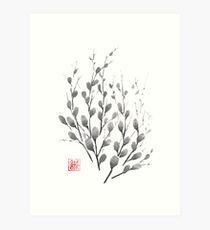 Gentle promise sumi-e painting Art Print