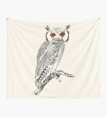 Southern White-faced Owl | African Wildlife Wall Tapestry