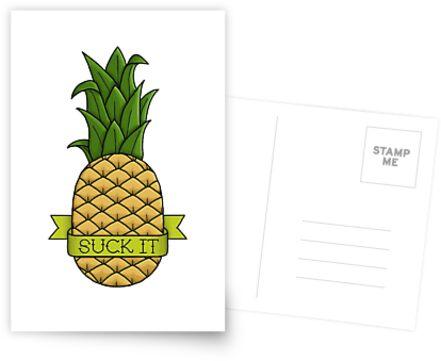 Saugen Sie es Ananas von Fieldm0use