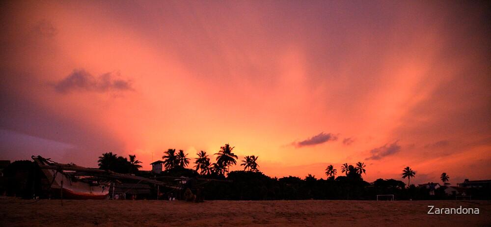 Sunset over Sri Lanka by Zarandona
