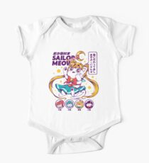 Sailor Meow Short Sleeve Baby One-Piece