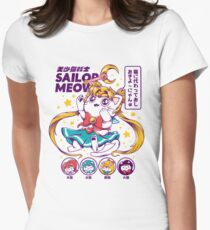 Sailor Meow Women's Fitted T-Shirt