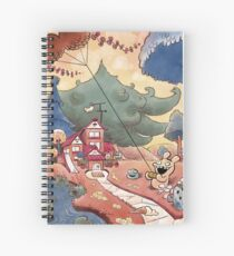 Tobias and Jube: Flying Moustache Spiral Notebook
