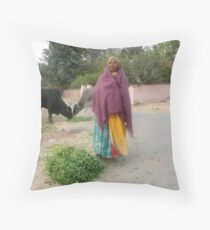 Puja Throw Pillow