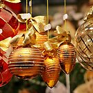 Glass Christmas Balls Card by Christine Till  @    CT-Graphics