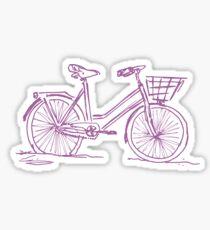 Purple Bike Sticker