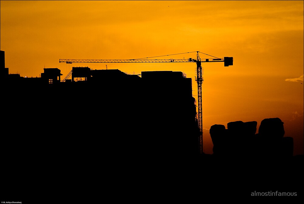 Sunset At The Construction Site by almostinfamous