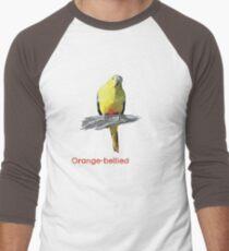 Save the Orange-bellied Parrot items (dark background colours) Men's Baseball ¾ T-Shirt