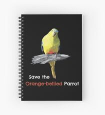 Save the Orange-bellied Parrot items (dark background colours) Spiral Notebook