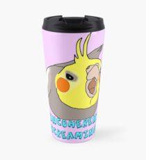 ((( incoherent screaming ))) -  cockatiel Travel Mug