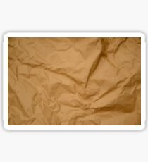 Crumpled Brown Parcel Paper Pattern Texture Background Sticker