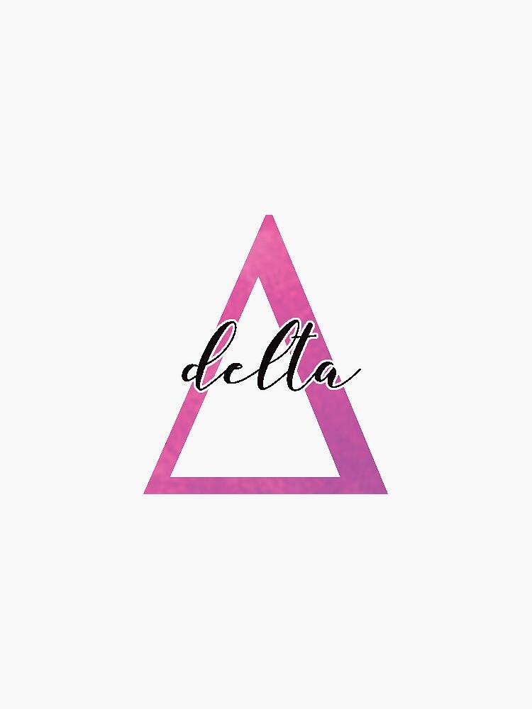 delta sticker: greek letters sorority  by sampalahnukart