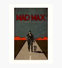 MAD MAX - The Road Warrior Custom Poster Art Print