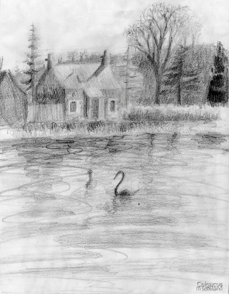 sketch of a cottage by Calgacus