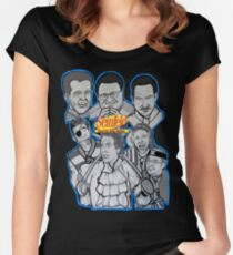 Seinfeld and his jolly mates Women's Fitted Scoop T-Shirt