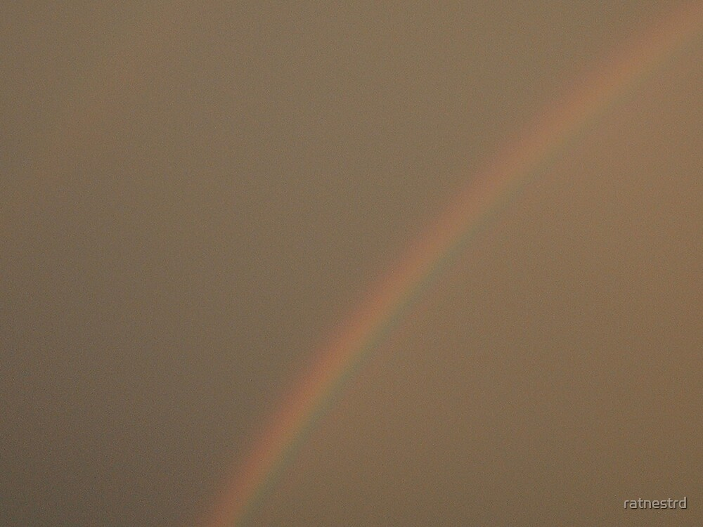 rainbow after & during a storm  by ratnestrd