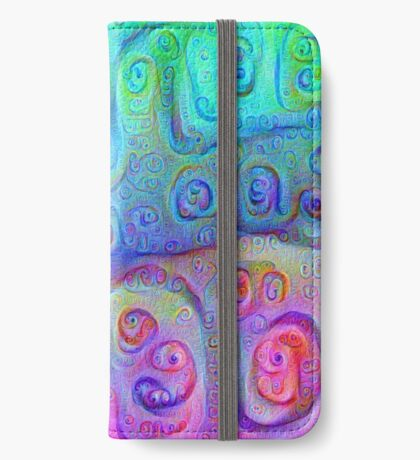 DeepDream Cyan to Magenta 5K iPhone Wallet