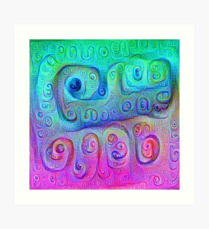 DeepDream Cyan to Magenta 5K Art Print