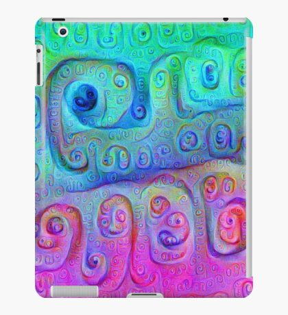 DeepDream Cyan to Magenta 5K iPad Case/Skin