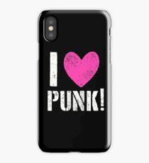 I LOVE PUNK! iPhone Case/Skin