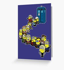 Doc Minion Line Up Greeting Card