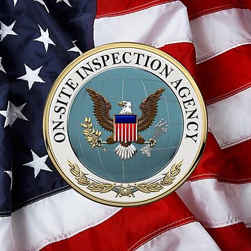 On-Site Inspection Agency - OSIA Seal over U.S. Flag by Captain7