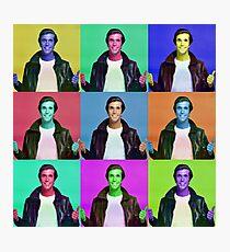 Fonzie Collage Photographic Print