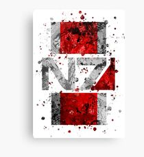 Mass Effect - N7 (Lite) Splatter Canvas Print
