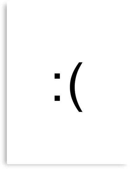 Sad Face Emoticon Canvas Prints By Ninjawafflesxd Redbubble
