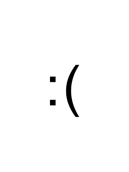 Sad Face Emoticon Photographic Prints By Ninjawafflesxd Redbubble