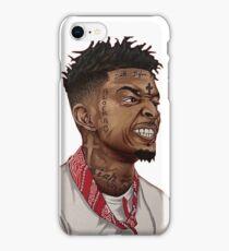 21 savage cartoon sticker iPhone Case/Skin