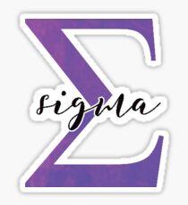 sigma sticker: greek letter sorority stickers Sticker