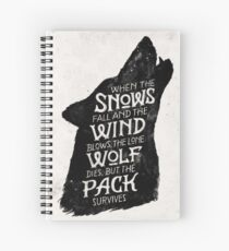 House Stark  Spiral Notebook