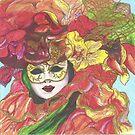 Autumn Flower Mask  by EllieTaylorArt