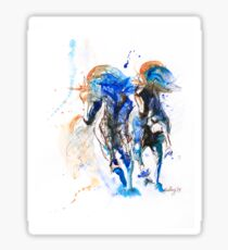 Two Runners//Blue+Brown Sticker