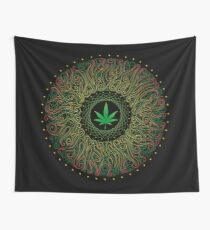 Power plant. Cannabis Wall Tapestry