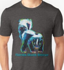 Florida Skunk Rescue Design by Robert Phelps T-Shirt