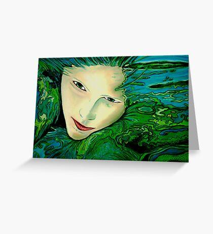 Aqua Allure Greeting Card