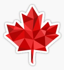 Maple Leaf - Low Poly Sticker