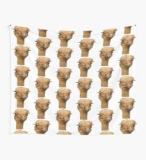Ostrich portrait Wall Tapestry