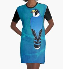 Peregrine Falcon (Falco peregrinus) Graphic T-Shirt Dress