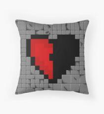 Half a pixel h (art) Throw Pillow