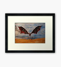Fire and Blood Framed Print