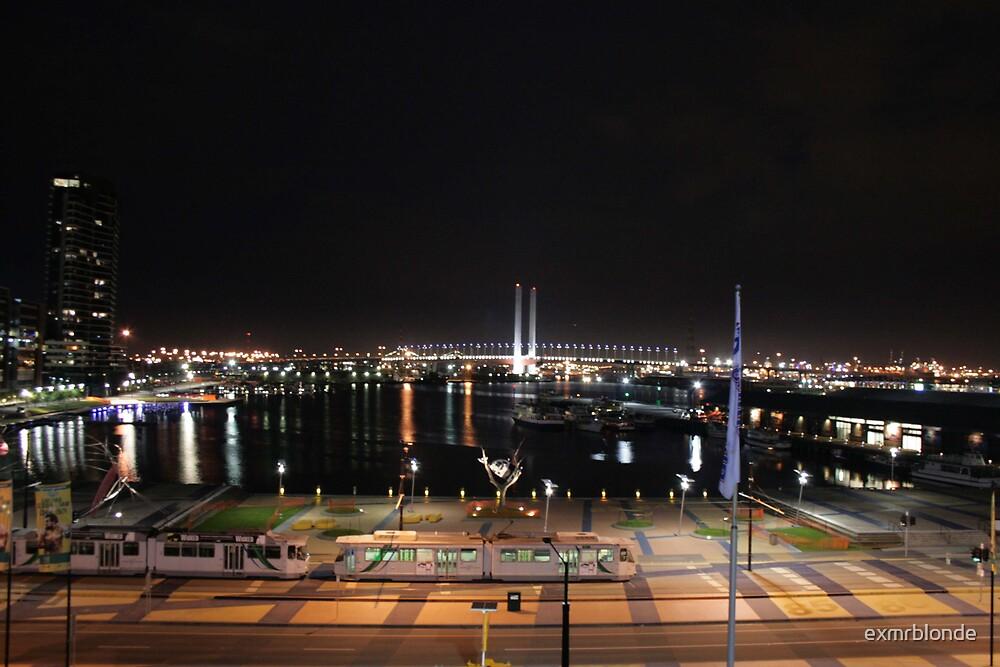 Yarra by night - Telstra Dome by exmrblonde