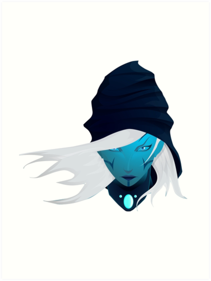 Dota 2 Drow Ranger Art Prints By Renjith S Redbubble